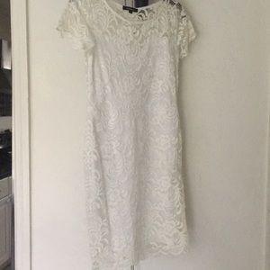 Dresses & Skirts - Lace white dress!